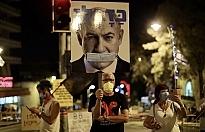 İsrail'de Kovid-19 karantinasına rağmen Netanyahu karşıtı gösteriye binlerce kişi katıldı