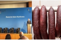 'Alman İslâmı' Konferansında domuz eti ikramı