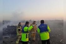 Tahran'daki uçak kazasında ölenlerin cesetleri 2 hektar alana dağıldı