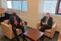 Volkan Bozkır, Türkiye'nin BM Daimi Temsilcisi Sinirlioğlu ile görüştü