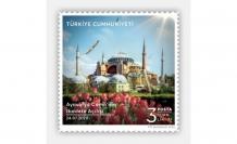 PTT'den Ayasofya Camii'nin İbadete Açılışı konulu özel pul