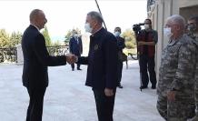Milli Savunma Bakanı Akar ve TSK komuta kademesi Aliyev ile görüştü