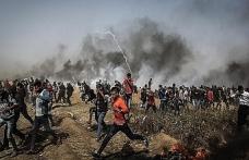 İsrail güçleri Gazzeli göstericilere saldırdı
