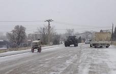 Edirne'ye kar düştü