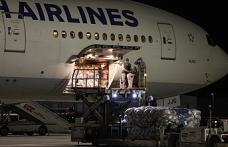 Kovid-19 aşılarının ikinci partisini taşıyan uçak İstanbul'a indi