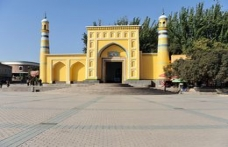 Doğu Türkistan'ın tarihi şehri Kaşgar ve Iydgah camii