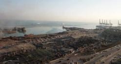 Beyrut'taki patlamadan drone görüntüleri