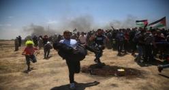 Gazze'deki gösterilerde çok sayıda Filistinli şehit oldu