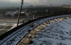 Rusya'daki çöken spor merkezinin çatısının dehşet görüntüsü