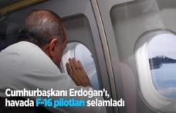 F-16'lardan Cumhurbaşkanı Erdoğan'a selam