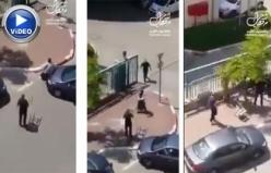 İsrail'de Filistinli kadını önce ezmeye çalıştılar sonra da saldırdılar