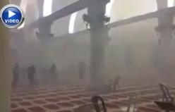İsrail'den Kıble Mescidi'ne bombalı saldırı