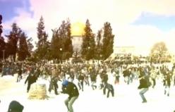 Kudüs'te kar topu oynanan günler
