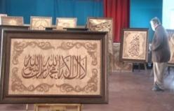 Rus ressam  Kur'an'dan 20 ayeti tablolaştırdı
