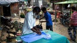 Hindistan'da Bhudiya mülteci kampı