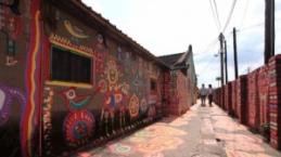 Duvar resimleri ve Tayvan'ın Haomei Köyü