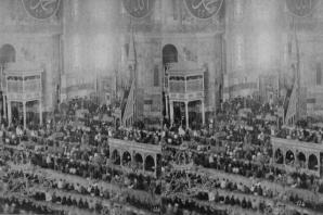 Osmanlı döneminde Ayasofya Camii'nde bir cuma namaz vakti...