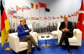 Cumhurbaşkanı Erdoğan-Merkel görüşmesi sona...