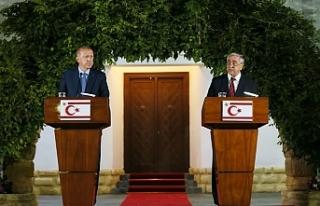 Erdoğan Kıbrıslı Türkler'e güvence verdi
