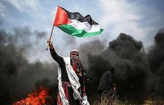 """Gazze'deki """"Büyük Dönüş Yürüyüşü""""..."""