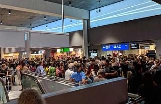 Almanya'da Frankfurt Havalimanı tahliye edildi