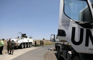 BM Barış Gücü Suriye-Golan Tepeleri sınırına...