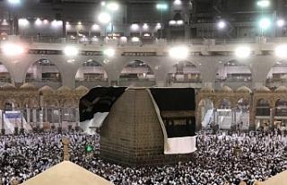 Mekke'de kum fırtınası, Kâbe'nin örtüsü...