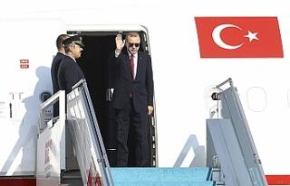 Cumhurbaşkanı Erdoğan Tahran'a hareket etti