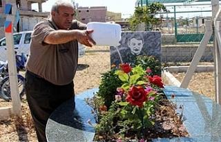Reyhanlı kurbanlarının mezarları ziyaretçileriyle...