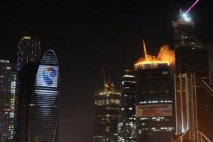 Rusya'nın en büyük ticaret merkezinde yangın