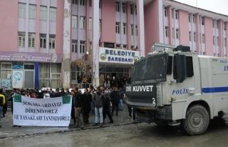 Hakkari'de HDP eylemine müdahale
