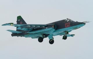 Rus savaş uçağı Su-25 düştü