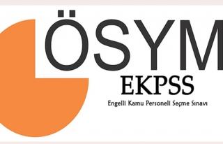 2018-EKPSS giriş belgeleri erişime açıldı