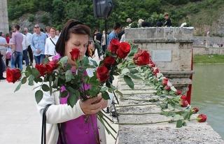 Visegrad'da katledilen 3 binden fazla Boşnak anıldı...