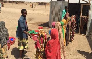 Etiyopya'da kuraklık mağdurlarının bir aylık...