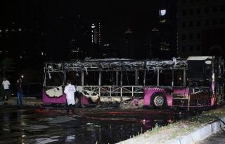 İstanbul'da İETT otobüsünde şüpheli yangın