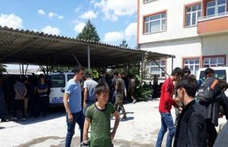 Amasya'da 102 göçmen yakalandı