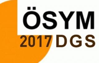 2017 DGS sonuçları açıklandı