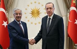 Cumhurbaşkanı Erdoğan, Pakistan Dışişleri Bakanı'nı...