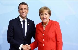 Macron'un Merkel için temennisi