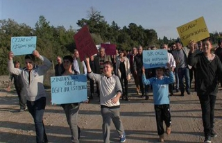 Manavgatlılardan cezaevi protestosu