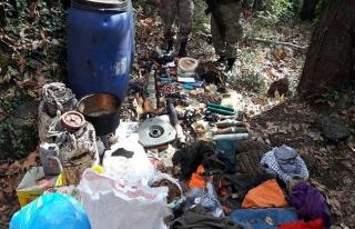 Osmaniye'de PKK'ya ait sığınakta mühimmat bulundu