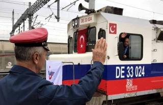 Demir İpek Yolu'na Mersin'den ilk tren kalktı