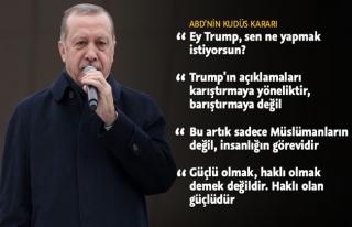 Erdoğan'dan Trump'un Kudüs kararına sert tepki