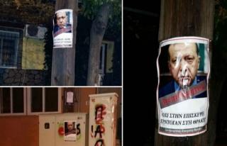 Gümülcine'de Erdoğan karşıtı afiş asanlar gözaltında