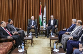 Hamas Siyasi Büro Başkanı Heniyye, Fetih heyetiyle...