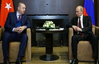Cumhurbaşkanı Erdoğan, Putin ile Kudüs'ü görüştü