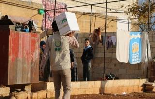 İHH'nın Suriye'ye insani yardımları sürüyor