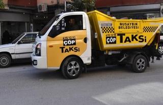 Nusaybin'de 'çöp taksi' uygulaması