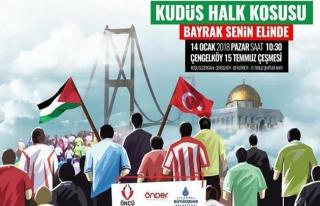 İstanbul'daki Kudüs Halk Koşusu yarın yapılacak